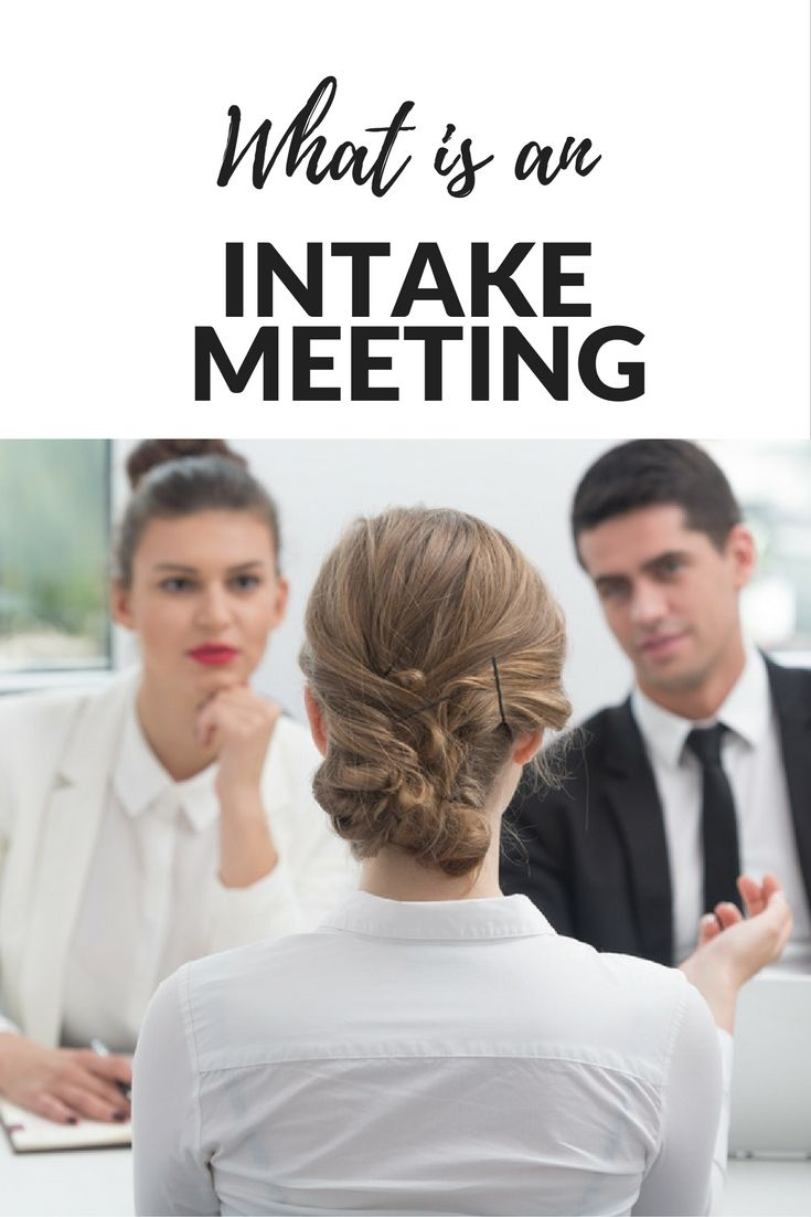 Job posting basics: what is an intake meeting?