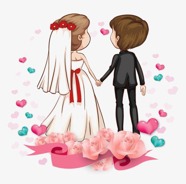Casais Dos Desenhos Animados Clipart De Noiva Noiva E Noivo Em Forma De Coracao Imagem Png E Psd Para Download Gratuito Wedding Couple Cartoon Bride And Groom Cartoon Bride Cartoon