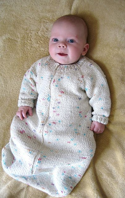Ravelry: # 103 Baby Sleeping Bag pattern by Diane Soucy
