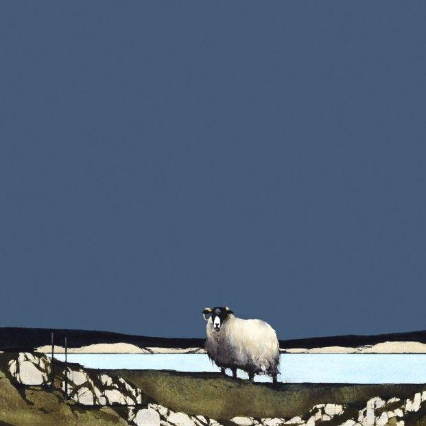 Ron Lawson, Blackface Sheep II. Signed Limited Edition print | Scottish Contemporary Art
