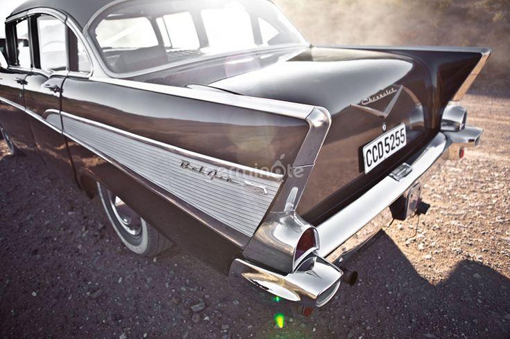 Black vintage car, Bon Cap Robertson