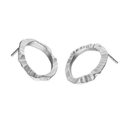 Traces earrings Design Liesbeth Busman / Lapponia Jewelry / Handmade in Helsinki