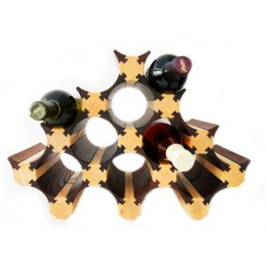 13 Bottle Wood Wine Rack