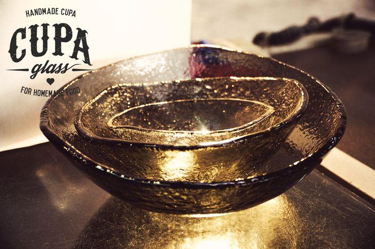 #Handmade #Glass #Plates Gray glass handmade plates and bowls by www.cupa.glass