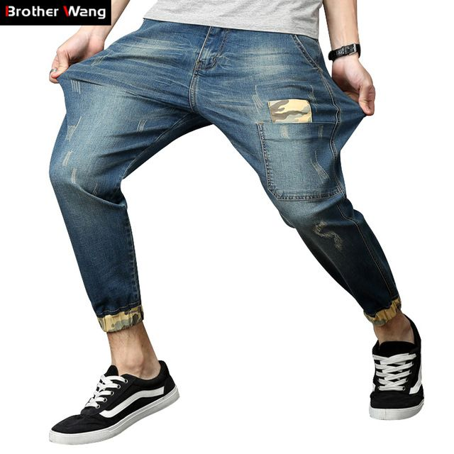 Check it on our site Brother Wang 2017 Summer New Men's Jeans Trend Male Camouflage Stitching Elasticity Small Jeans Brand Large Size Clothing just only $28.00 with free shipping worldwide  #jeansformen Plese click on picture to see our special price for you