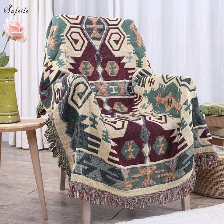 QCZX European style cotton blanket 200x230 cm high density super soft flannel blanket for sofa / bed / car portable accessor D20 #Affiliate