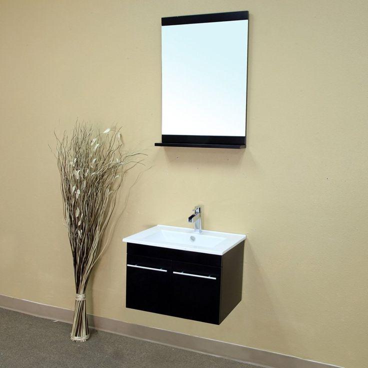 Have to have it. Bellaterra Parma 23.6-in. Black Single Bathroom Vanity with Optional Mirror - $498 @hayneedle