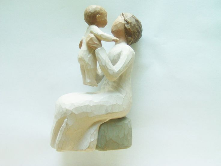 Vintage Willow Tree Collection / Grandmother Gift / Christmas Gift/ Willow Tree Statue / Hand Painted Statue / Child Statue / Willow Tree by TamJewelryandUniques on Etsy