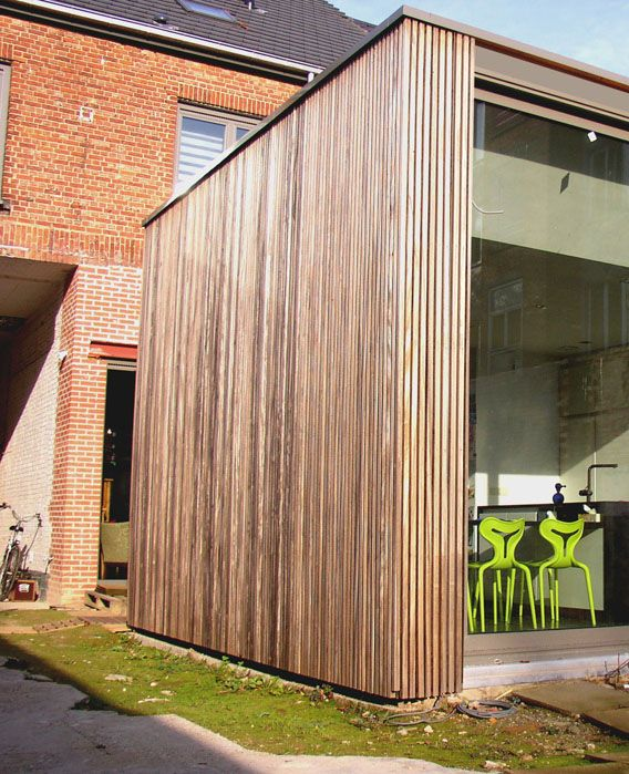 Padoek is een houtsoort die in belgie veel meer wordt toegepast dan in nederland complimenten - Uitbreiding stenen huis ...