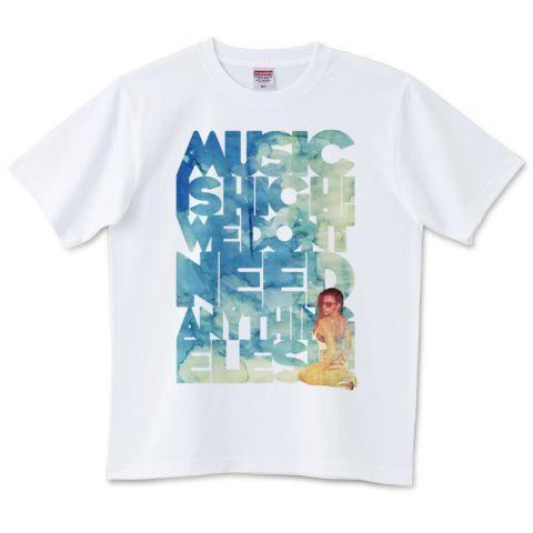 """Music"" メッセージTシャツ | デザインTシャツ通販 T-SHIRTS TRINITY(Tシャツトリニティ)"