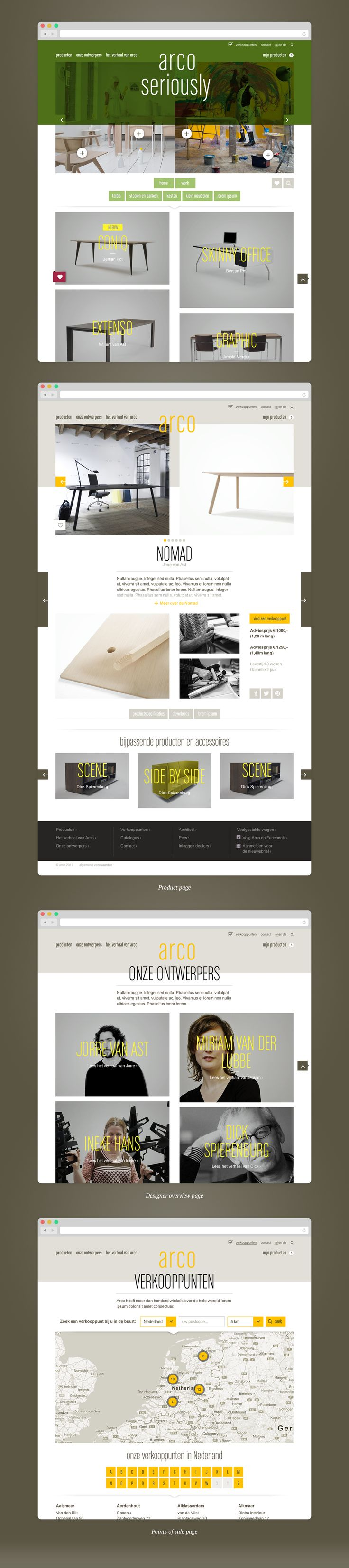 Arco.nl - Portfolio of Sanne Wijbenga #Webdesign #UI