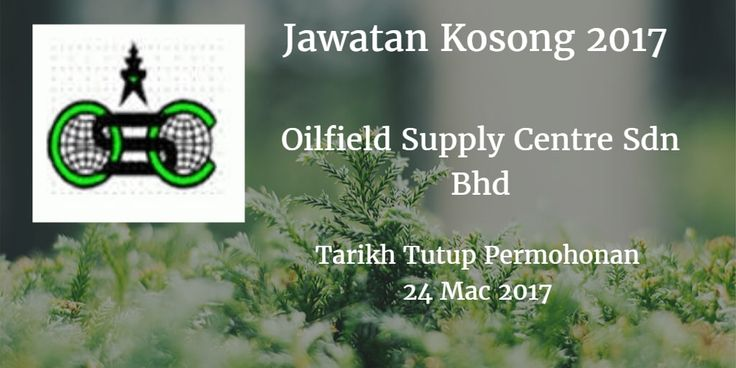 Jawatan Kosong Oilfield Supply Centre Sdn Bhd 24 Mac 2017  Jawatan Kosong Oilfield Supply Centre Sdn Bhd Johor Mac 2017  Jawatan Kosong Oilfield Supply Centre Sdn Bhd 24 Mac 2017  Oilfield Supply Centre Sdn Bhd Johor membuka peluang pekerjaan Oilfield Supply Centre Sdn Bhd terkini bulan Mac ini. Warganegara Malaysia yang berminat kerja Oilfield Supply Centre Sdn Bhd Johor dan berkelayakan dipelawa untuk memohon kekosongan jawatan : Admin Asst cum Receptionist Duties & Responsibilities: As a receptionist to answer phone calls and attending to customers visitors and others Handle all administrative matters e.g. receipt and despatch of documents  scheduling and coordination of meetings correspondence with third parties filing purchase of office stationery and other requirements Handle employees's leave records and attendance at work Assist in preparation of Purchase Orders and related documents Handle all aspects of business travel related activities and relevant arrangements for GM expatriates and / or visits by Head office personnel To follow up and coordinate activities of the various divisions within the Company and update the Head of Operations on a regular basis To assist in the preparation of presentations tenders and drawings whenever required. Requirements: Min Diploma and with good knowledge of admin and office management functions At least 1 year working experience Good command of English  spoken and written Familiar with computers and Microsoft office applications Please submit our application with a detailed resume stating personal particulars experience current & expected salary contact telephone number and enclose a recent passport-sized photograph to hrmanager@oscmalaysia.com Closing Date: 24 th March 2017 Only short-listed candidates will be notified via JobsJohor Jawatan Kosong Johor 2017 Johor