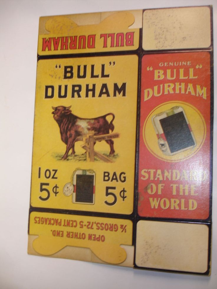 Vintage Bull Durham Smoking Tobacco Box