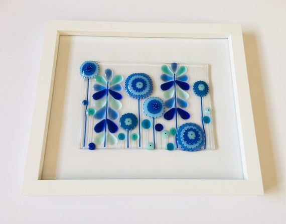 Fused Glass Fused Glass Retro Flowers Funky Art Fused Glass Fused Glass Art Fused Glass Retro Flowers