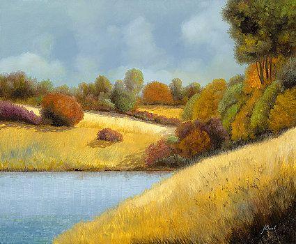 La Mietitura Sul Lago by Guido Borelli