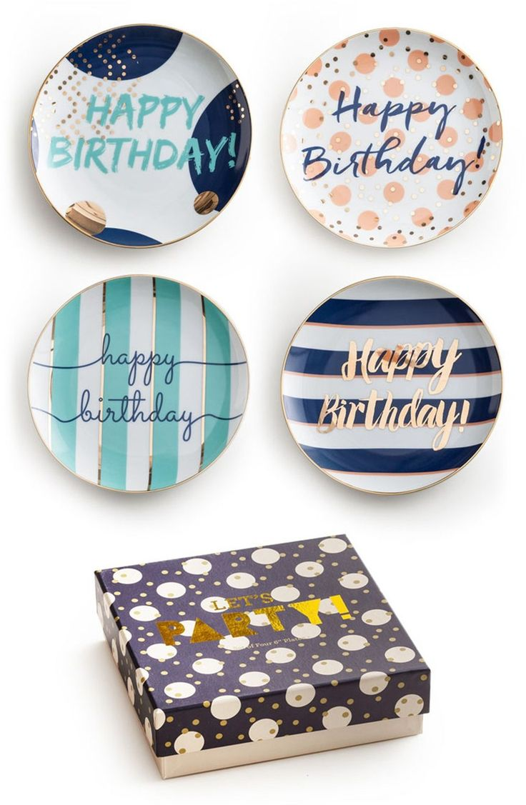 Big happy birthday badges party products party delights -  Happy Birthday Porcelain Plates