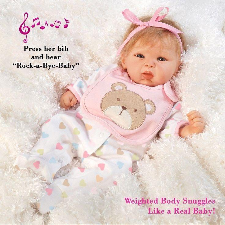 Realistic Handmade Baby Doll Girl Newborn Lifelike Vinyl