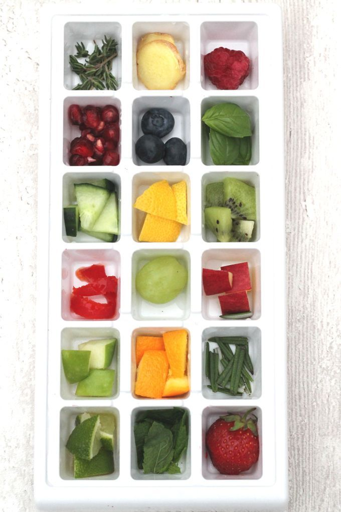 Get the whole family drinking more water with these fun and tasty Fruity Ice Cubes | My Fussy Eater blog