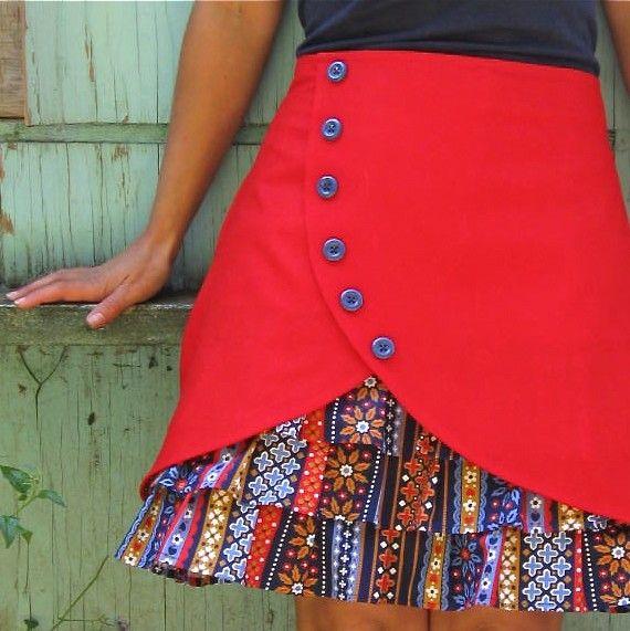Gretel ruffle front skirt. $72.00, via Etsy.