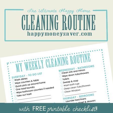 Oh wow! The ideas in this post are so fantastic! And I LOVE the simple & straightforward cleaning routine with free printable checklist she outlines!  The printable can be customized.