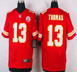 Kansas City Chiefs Jersey 13 De'Anthony Thomas Red Team Color NFL Nike Elite Jerseys