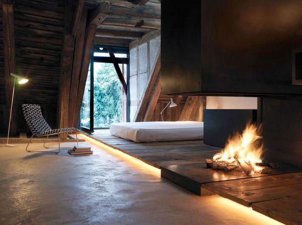 Dormitor unic la mansarda
