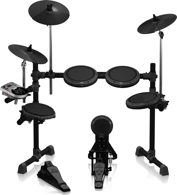 The XD8USB 8-piece electronic drum set comes with everything you need to lay down the groove including a professional-grade kick pedal with trigger pad; dual-zone snare for standard head and rim play;