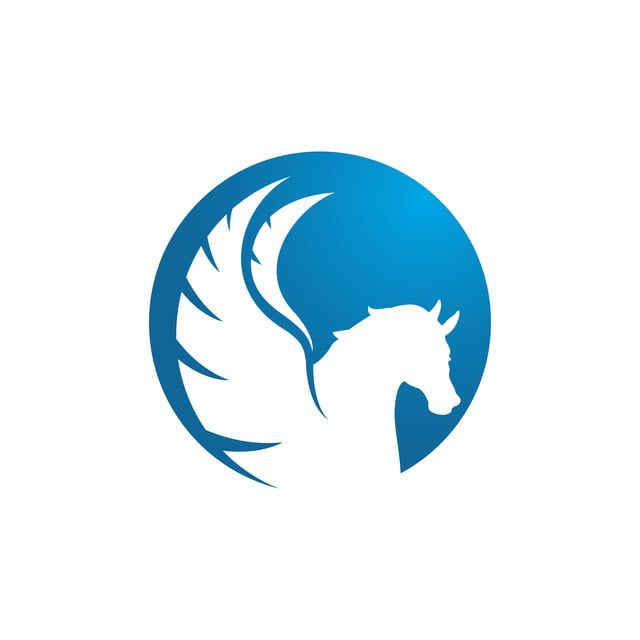 Kuda Abstrak Dengan Sayap Terbang Pegasus Unicorn Kuat Abstract Horse Horse Logo Design Pegasus Unicorn