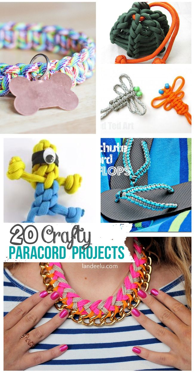 Over 20 Crafty Paracord Projects!  You can make so many cool things out of paracord! Fun ideas for the last weeks of summer.