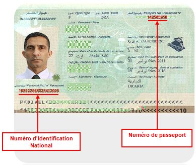 Passeport Biometrique Algerien Carte Nationale Biometrique