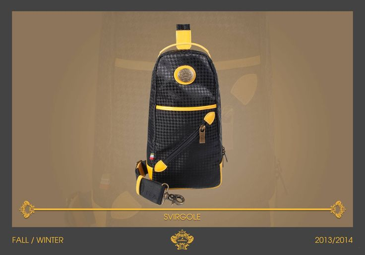 Handy monorail in micro pied de poule in matching with black shades. The yellow leather details, the front diagonal zip and the upper handle give to SVIRGOLE a young look. Enjoy your casual days with #Orobianco!