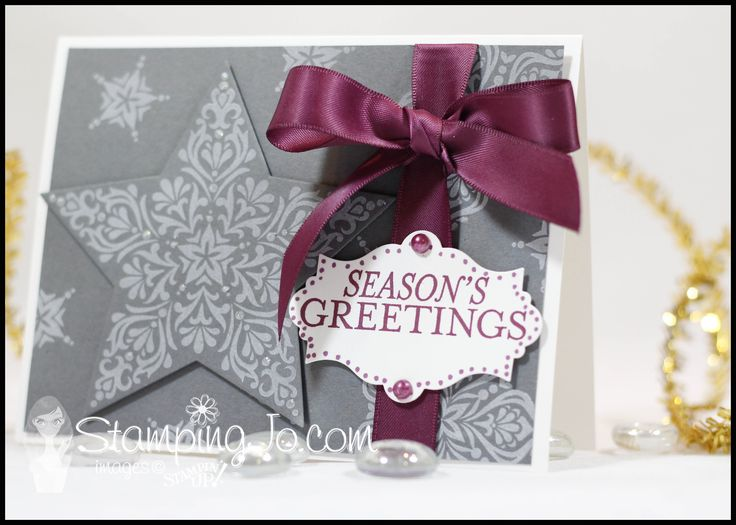 www.stampingjo.com #christmascards, #christmas, #StampinUp, #bright&beautiful, #handmade, #cardclass