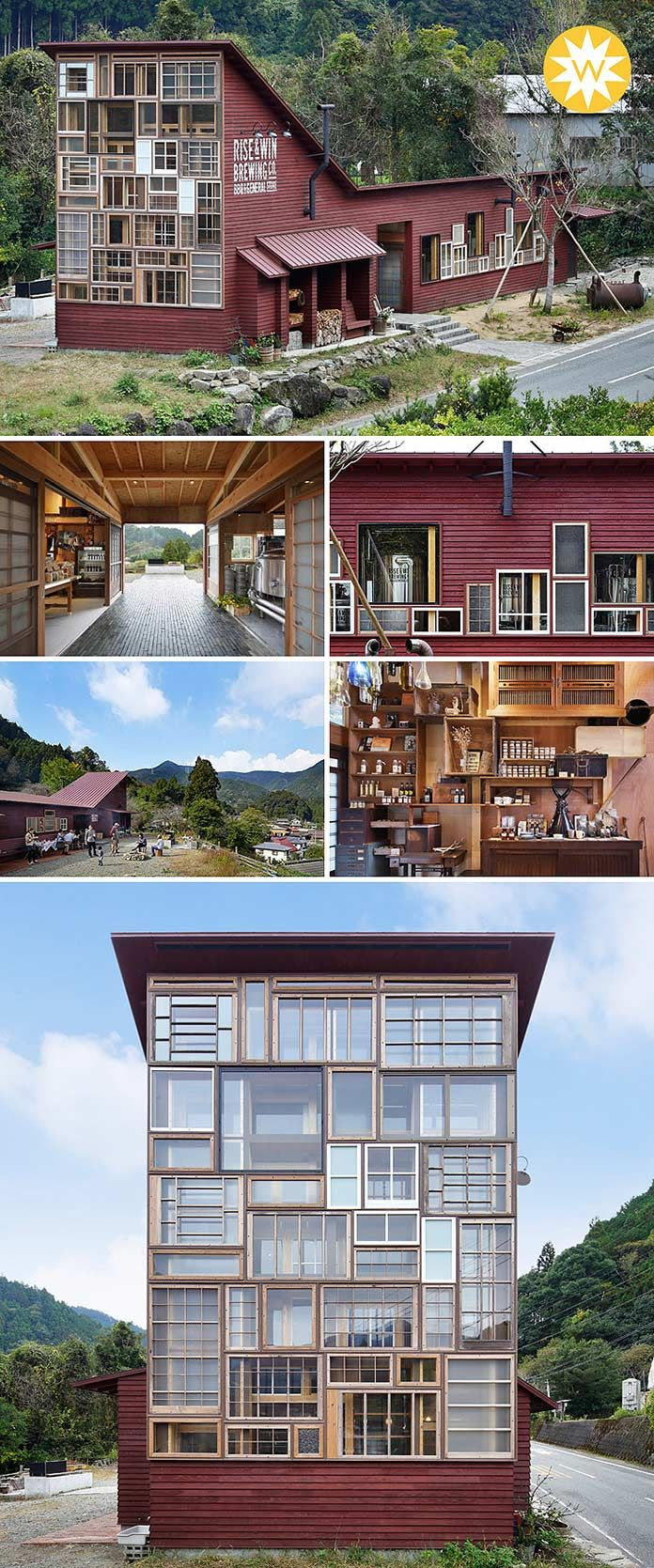 Entièrement réalisé en matériaux de récupération, le nouveau bar de Kamikatsu est une réussite tant écologique qu'architecturale : il a d'ailleurs reçu le « WAN Award 2016 » qui récompense les meilleurs bâtiments s'inscrivant dans une démarche durable à travers le monde.