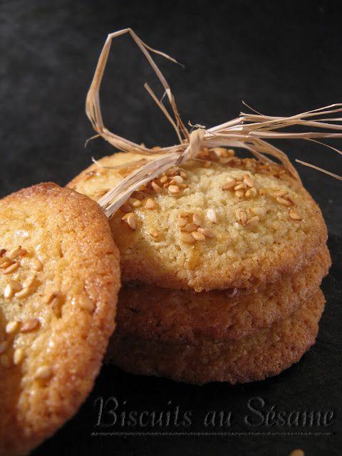 J'en reprendrai bien un bout...: Biscuits au Sésame (Martha Stewart # 17)
