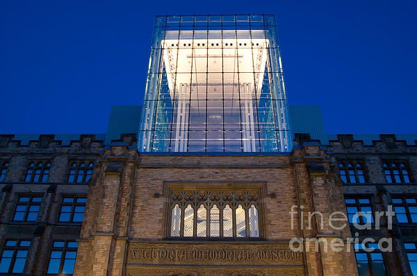 Museum Glass At Night. Ottawa's Museum of Nature with the glass addition over the main entrance. Fine Art Photography http://rob-huntley.artistwebsites.com © Rob Huntley