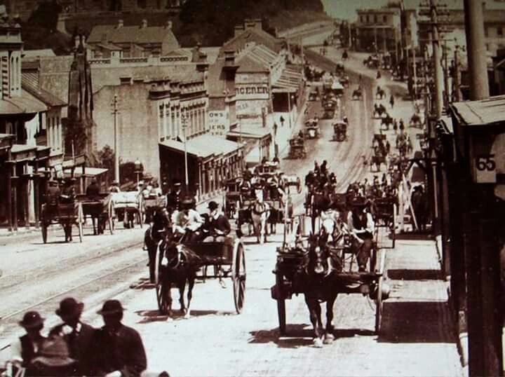 Traffic along Parramatta Road.,Sydney in the 1880's. Photo shared by the State…