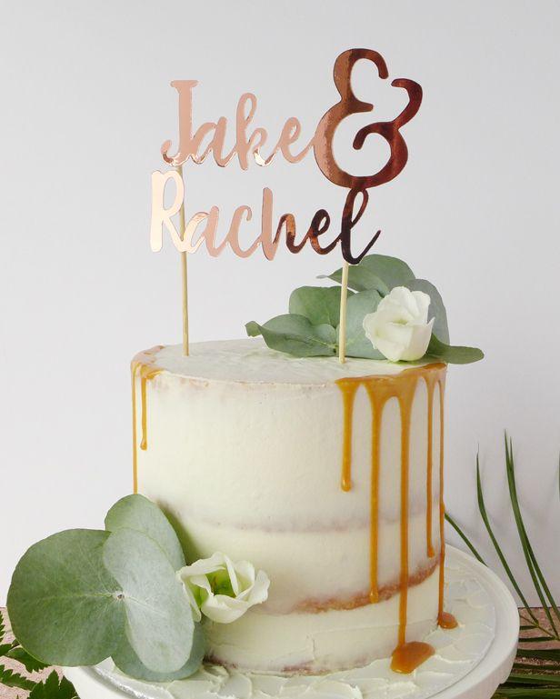 Personalised Names Wedding Cake Topper