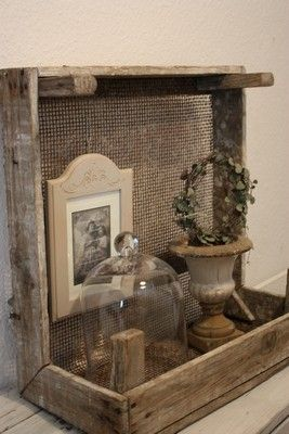 Inspiring idea...I think I'll have the husband build me something like this...use it as a shelf...