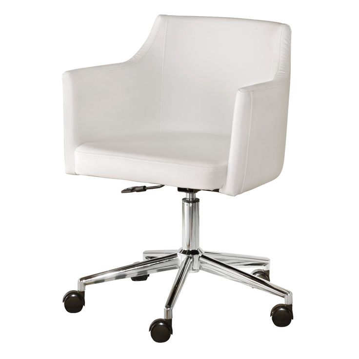 Baraga swivel desk chair delivers the comfort you crave with the modern style that suits your taste. Sleek, linear design and faux leather maximize a minimalist look. Casters, adjustable seat and 360-degree swivel make this functional piece all the more flexible.  Signature Design by Ashley is a registered trademark of Ashley Furniture Industries, Inc.