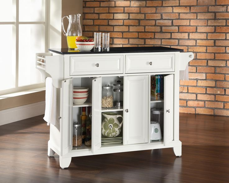Multifunctional Furniture For Small Spaces Kitchen Tops Granite Kitchen Island With Granite Top White Kitchen Island Cart
