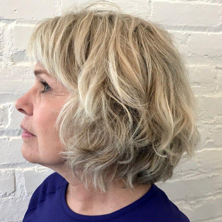 very interrupt fair rough haircuts as well as bangs women exceeding 50