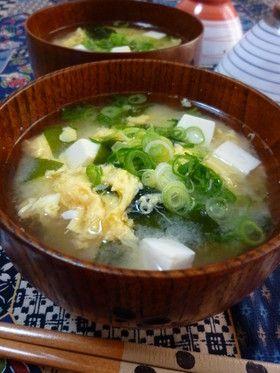 ✤お豆腐とワカメのかきたま汁(味噌汁)✤ by rie-tin [クックパッド ...