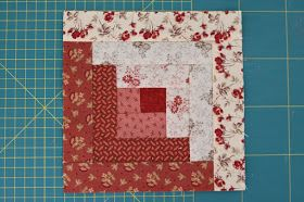 Easy Log Cabin block without measuring