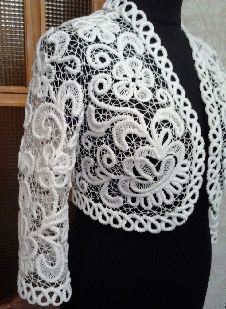 Romanian cord crochet bolero