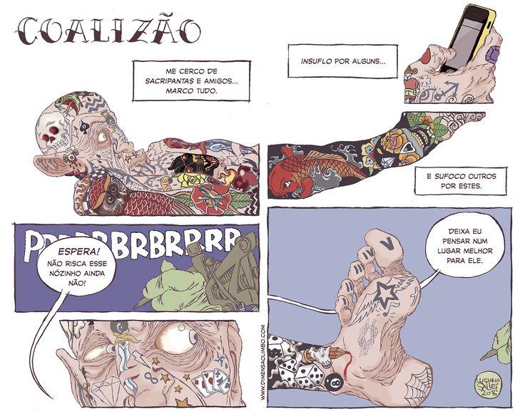Quadrão para Folha de São Paulo em 04/01/2016 #illustration #ilustração #FolhadeSãoPaulo #Tattoo #Design