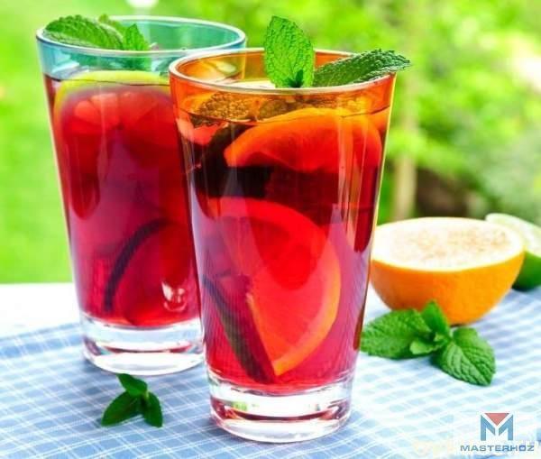 Освежающие летние напитки   1. Арбузно-цитрусовый коктейль       Ингредиенты:    лимон – 1 шт.    апельсин – 1 шт.    арбуз – 1 кг    мед – по вкусу        Приготовление: Лимон и апельсин помойте и обдайте кипятком, а затем выжмите из фруктов   сок. У арбуза обрежьте корки, мякоть нарежьте кусочками, удалив   семечки. В чашу блендера переложите мякоть арбуза, добавьте мед, сок   лимона и апельсина. Взбейте все до получения однородной массы. Перелейте   напиток в кувшин и охладите в…