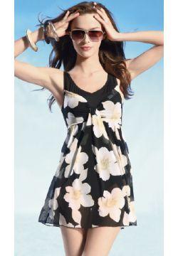 Beautiful Garden Modesty Swimdress in Black or Pink
