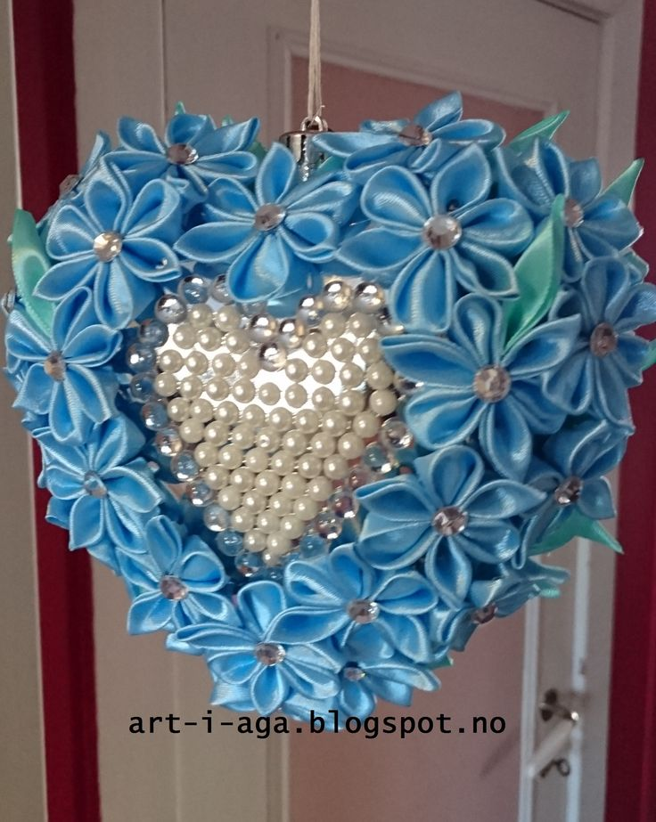 Heart with ribbon, decor, Valentines Day