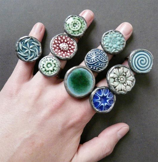 Rings. - would makee nice pendants