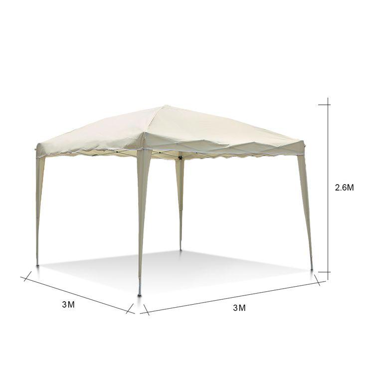 Ikayaa 3 * 3 * 2.6 м складной сад навес беседка Pop Up ну вечеринку свадьба отдых палатка шатер павильон полиэстер ж / носит сумка пт на складе